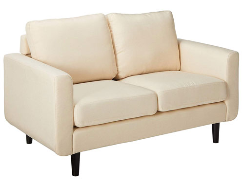 Gold Sparrow Lacey Leather Love Seat - Beige