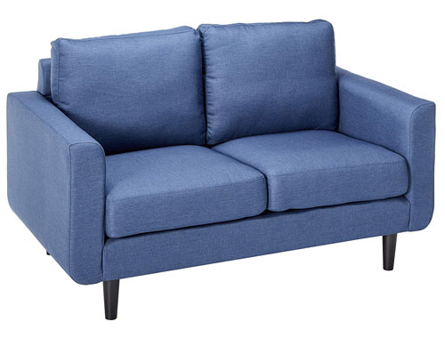 Gold Sparrow Lacey Leather Love Seat - Blue