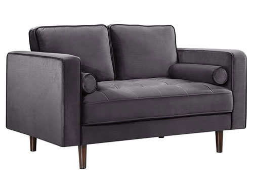 Meridian Furniture Emily Loveseat - Grey