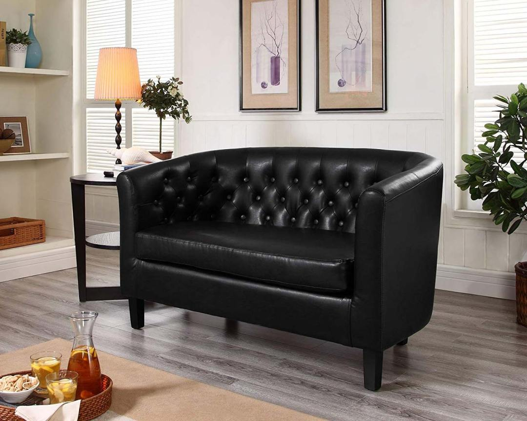 Modway Prospect Loveseat Sofa (Vinyl) - Featured