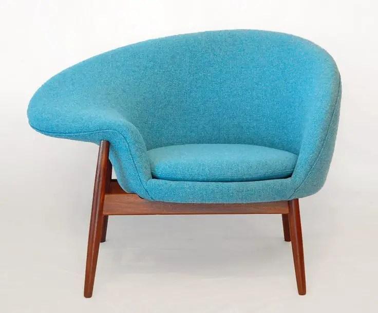 fried egg chair leather baby shower rental hans olsen 1956 mid century home