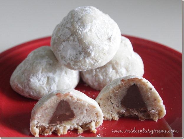 Chocolate Filled Snowballs