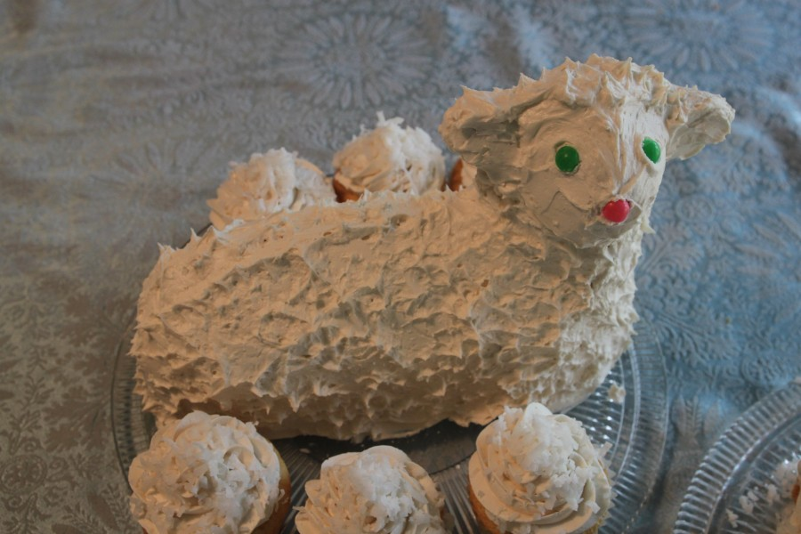Awe Inspiring Best Easter Lamb Cake Renalde Lamb Cake With Vintage Birthday Birthday Cards Printable Inklcafe Filternl