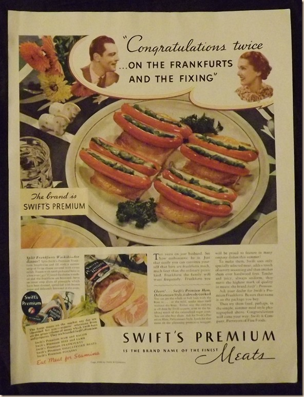 Swift's Split Franfurters