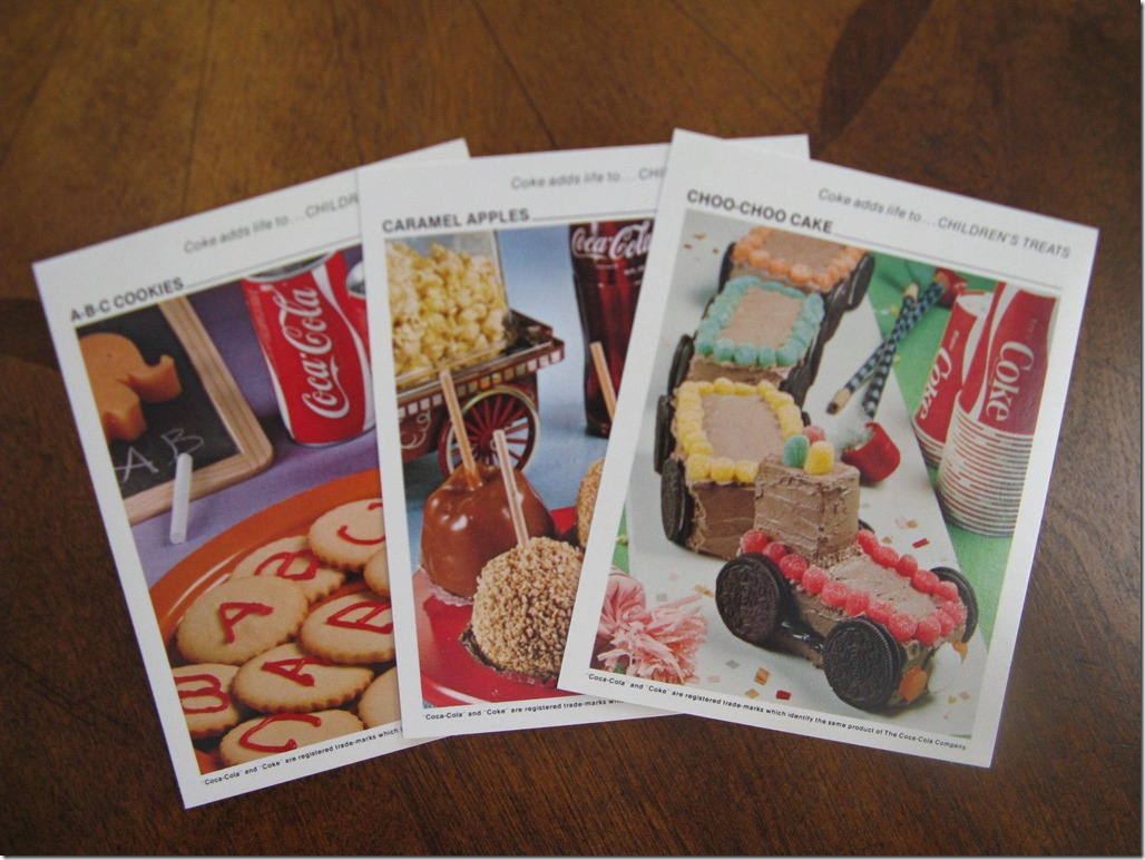 Coke Recipe Cards