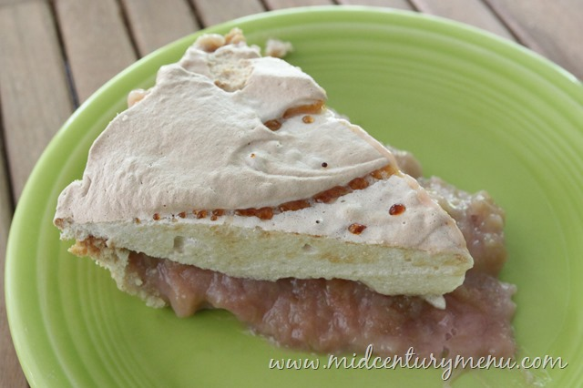 Grandma's Rhubarb Meringue Pie – A Vintage Recipe Re-Run