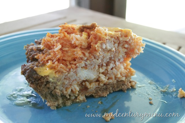 Rice Pie with Meat Crust, 1953 – Vintage Pie July!