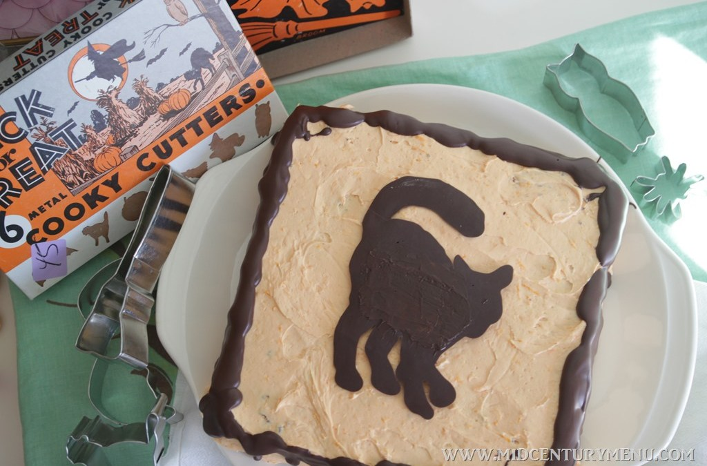Orange Soda & Chocolate Black Cat Cake, 1962  – A Vintage Halloween Recipe Re-Run