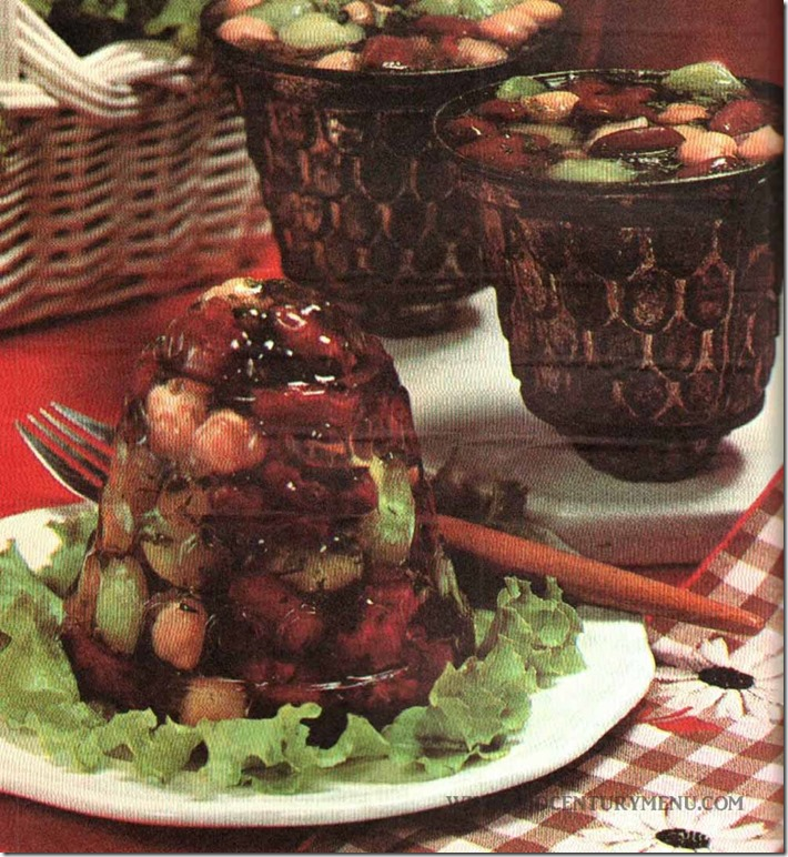 Three Way Bean Salad - The Knox Gelatine Cookbook, 1977