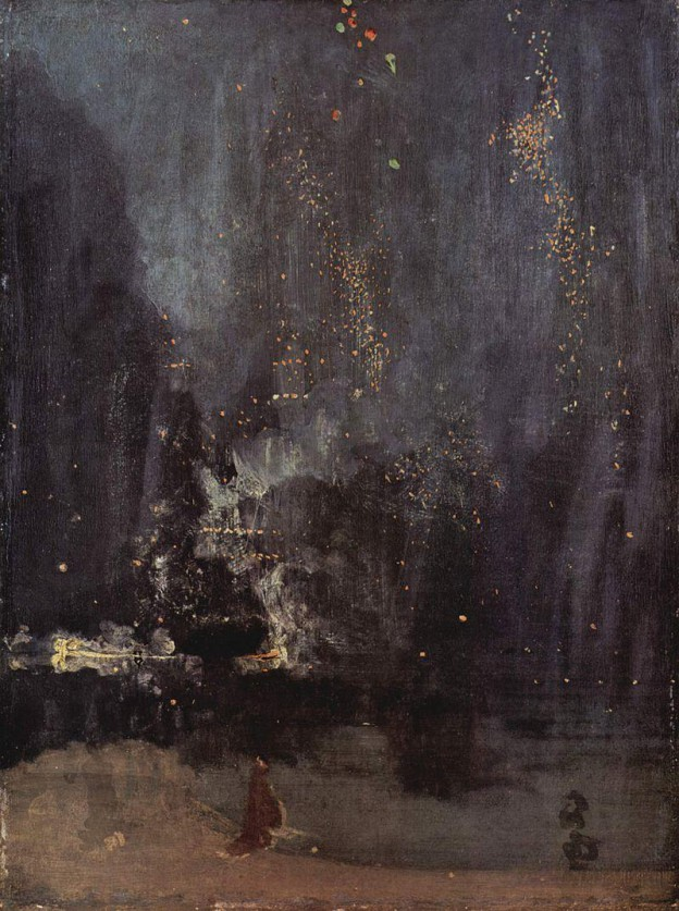 Nocturne in Black and Gold, Oil on Canvas, Whistler 1875