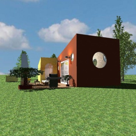 Ronnie's Tiny House Back View