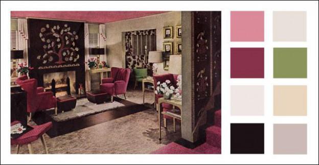 1943 armstrong linoleum living room add midcentury modern style