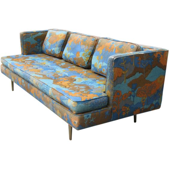 Wormley Brass Leg Sofa for Dunbar, 1950.