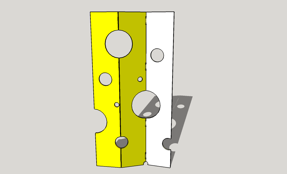 Room Divider With Different Colors.