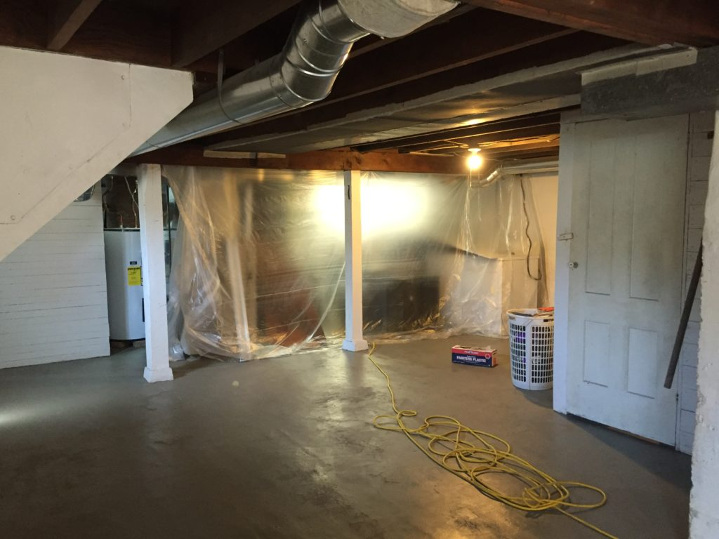 DIY Painting the Basement Floor to Ceiling