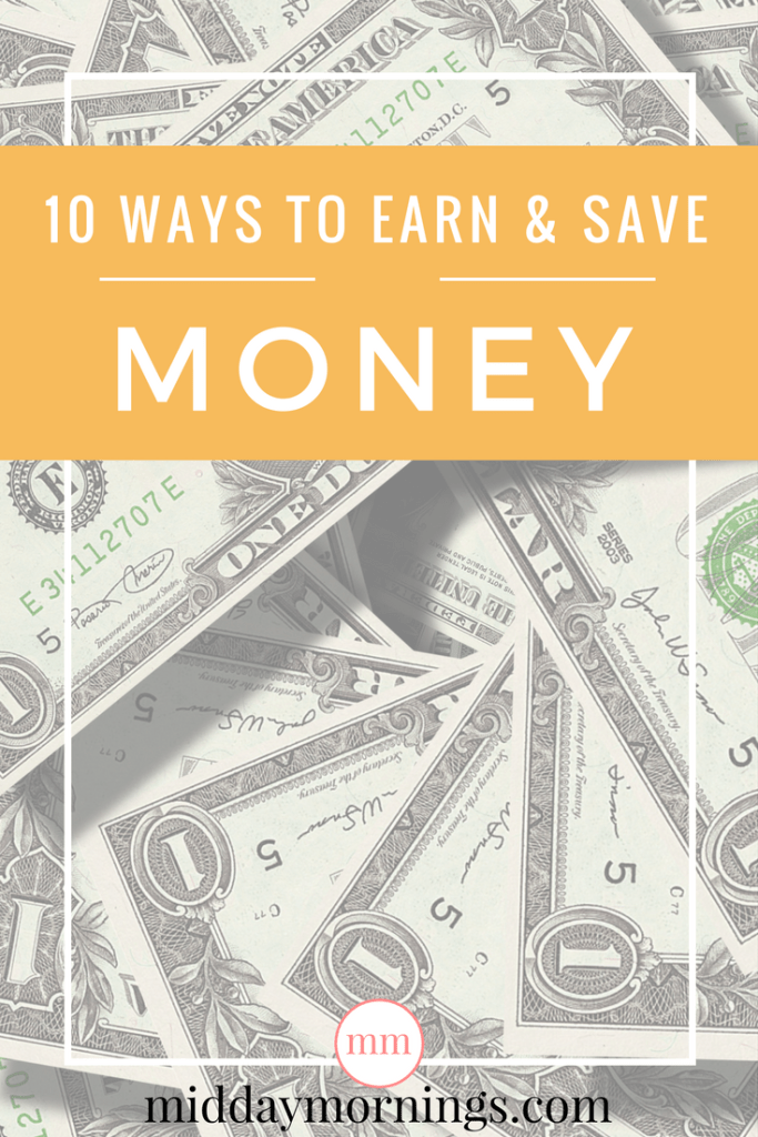 I'm sharing 10 ways to save money for the holidays. Click to read at MiddayMornings.com #frugalliving #savingmoney #pennypincher