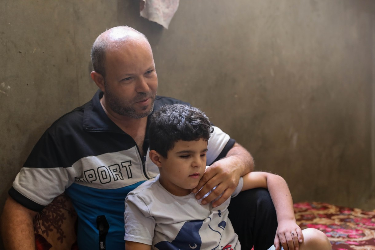 Hani Shaaban says his son has struggled psychologically with not being able to properly return to school (MEE/Mohammed al-Hajjar)
