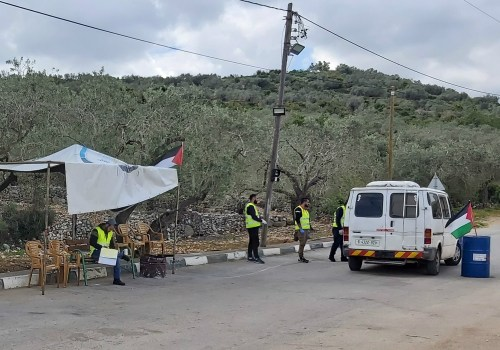 'Community checkpoints' operate around the clock to prevent entry to those who are not authorised (MEE/Fareed Taamallah)