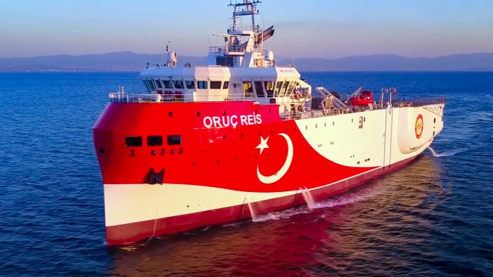 Ankara sent the exploration vessel Oruc Reis to disputed waters on 10 August (AFP)