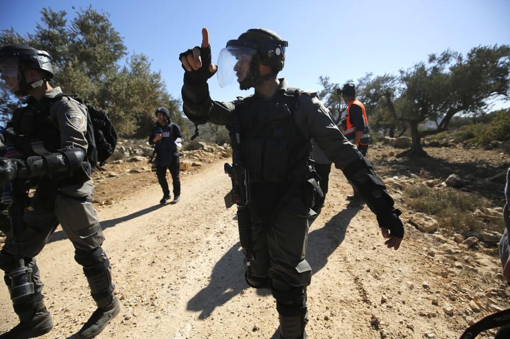 Israeli forces patrol near Ramallah on 2 November (AFP)