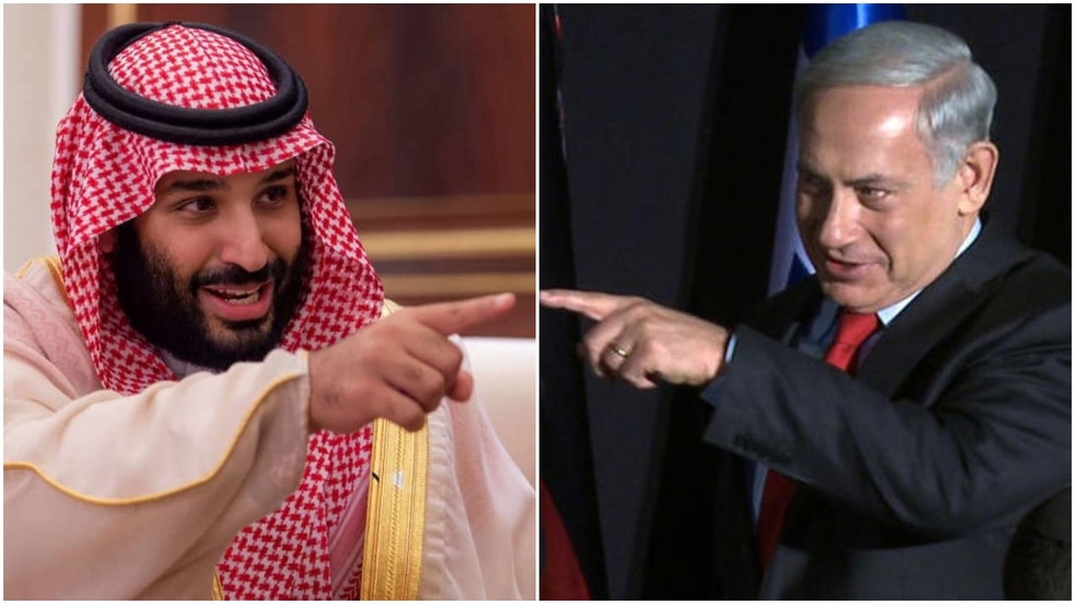 Mohammed bin Salman and Benjamin Netanyahu (Collage/ AFP)