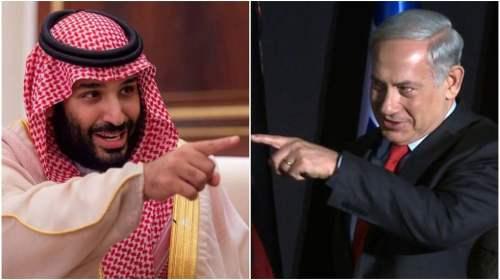 Mohammed bin Salman and Benjamin Netanyahu (Collage/ AFP)
