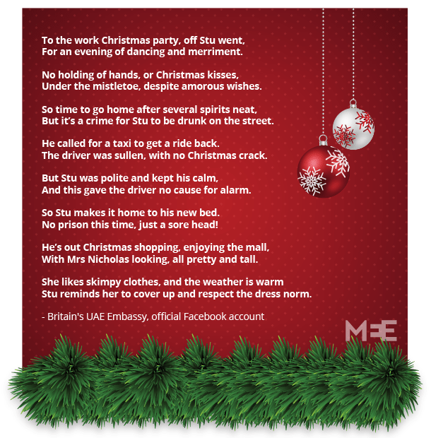 UKs UAE Embassys Festive Poem Goes Viral Middle East Eye