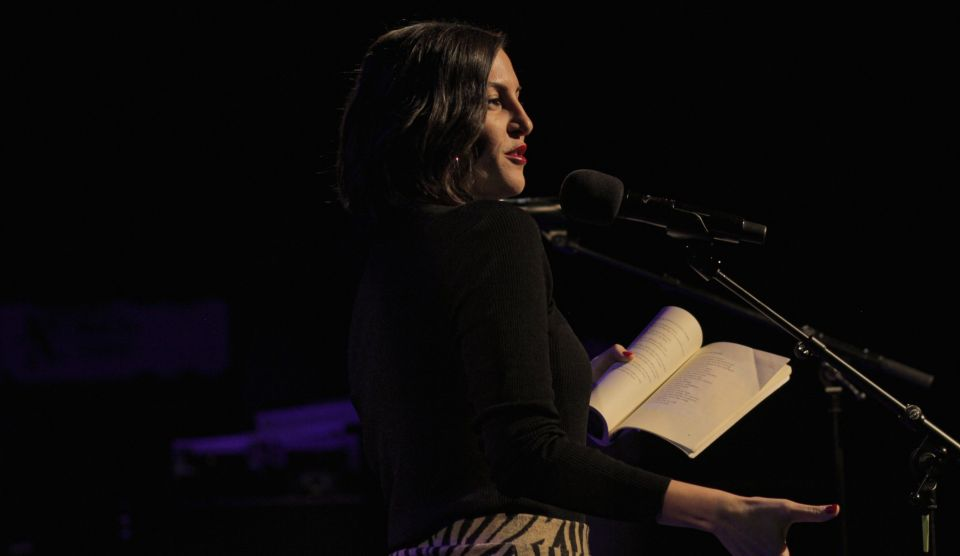 Zeina Hashem Beck performs at Out-Spoken event