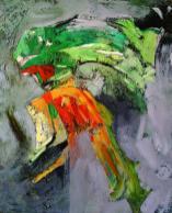 """""""Narrative"""". Acrylic on Canvas - 90 X 110 cm, 2006. [Rafat Asad]"""