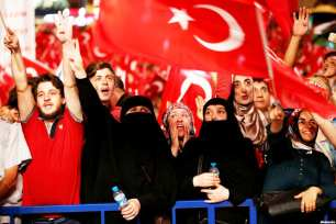 For the first time ever, Turkey's three main political parties, including the Justice and Development (AK) Party, Republican People's Party (CHP) and Nationalist Movement Party (MHP) joined together for a pro-democracy rally on August 8, 2015