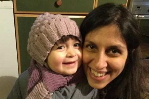 Nazanin Zaghari-Ratcliffe and her daughter Gabriella pose for a photo in London, UK on 7 February 2016 [Karl Brandt/Courtesy of Free Nazanin campaign/Handout via REUTERS/Files]