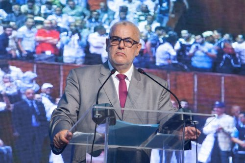 Moroccan Prime Minister Abdelilah Benkirane delivers a speech during his election campaign ahead of the General elections in Morocco, on September 25, 2016 at the Prince Moulay Abdellah stadium in Rabat, Morocco. ( Jalal Morchidi - Anadolu Agency )