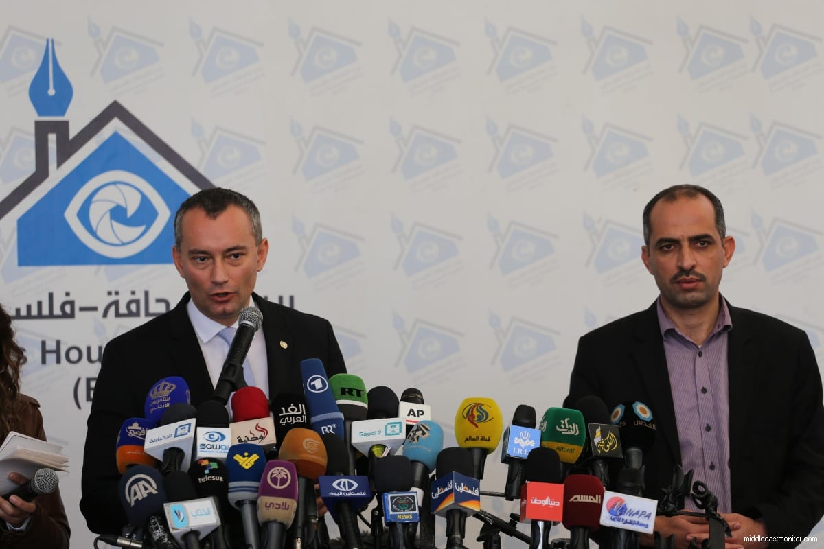 The United Nations Special Coordinator for the Middle East Peace Process Nickolay Mladenov