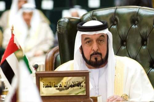 United Arab Emirates President Sheikh Khalifa bin Zayed al-Nahyan listens to closing remarks during the closing ceremony of the Gulf Cooperation Council (GCC) summit in Kuwait's Bayan Palace on December 15 2009.