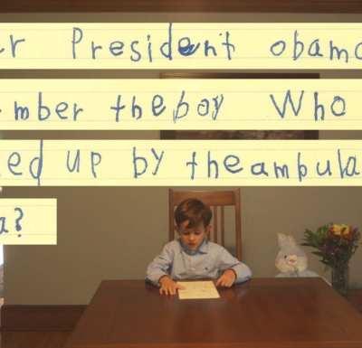 American boy asks Obama if he can adopt Omran Daqneesh [White House]