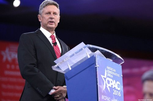 Gary Johnson speaking at the 2016 Conservative Political Action Conference (CPAC) in Washington, DC