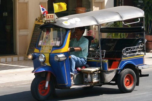 A tuktuk in Chiang Mai, Thailand
