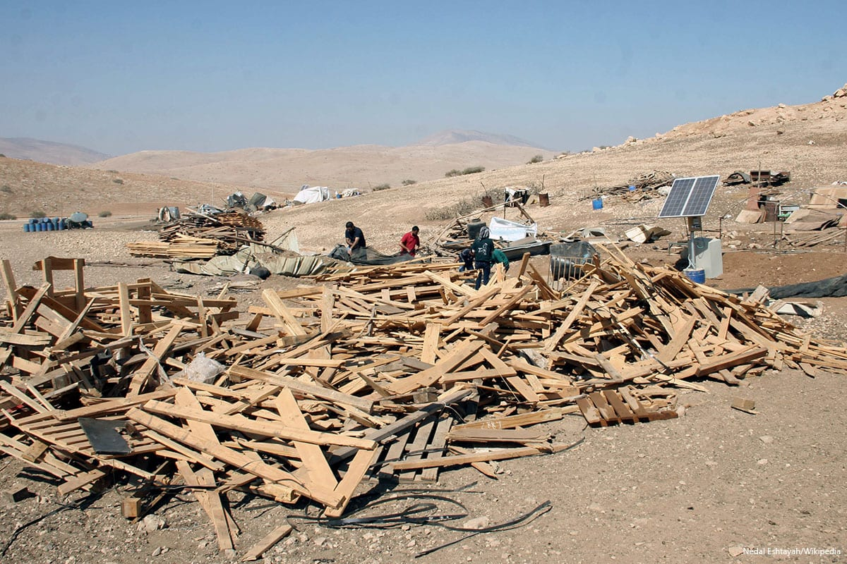 Israel demolished Palestinian home in northern Jordan Valley on September 16th 2016 [Nedal Eshtayah/Wikipedia]