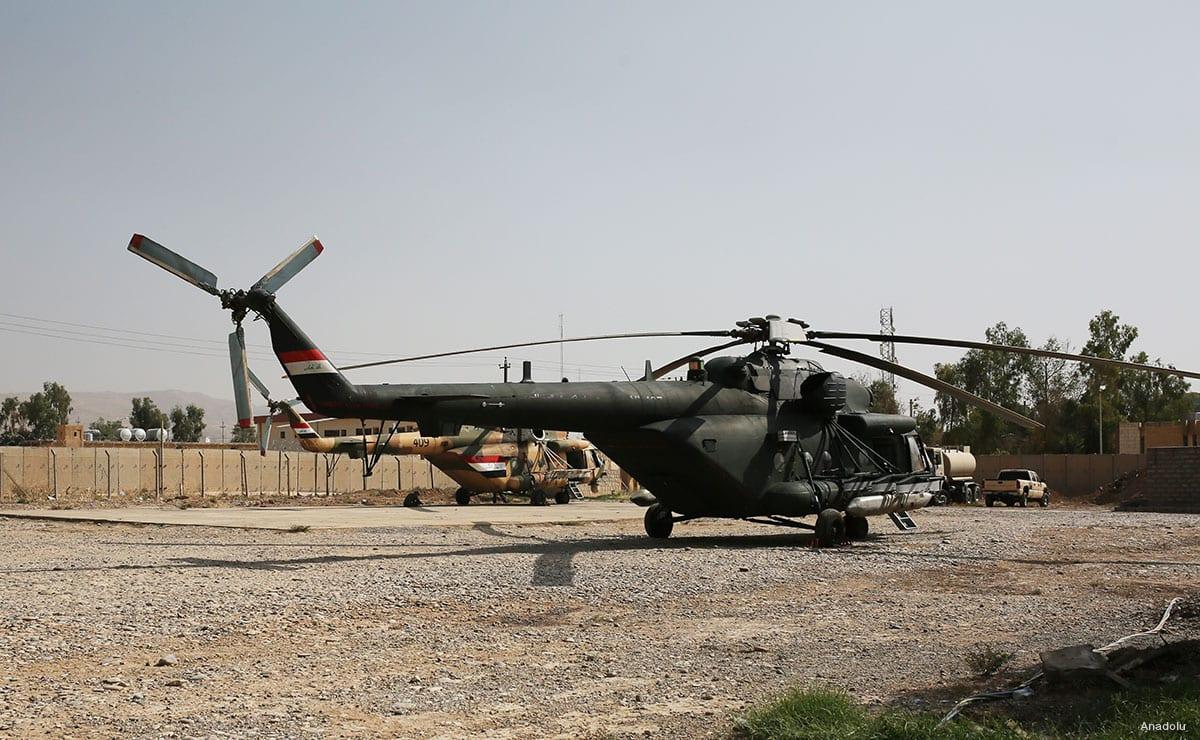 Image of Iraqi military helicopters [Anadolu]