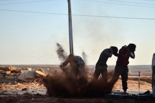 'Opposition shelling kills children at school in west Aleppo'