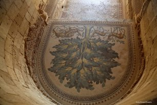 Middle East's largest ancient mosaic, 'Tree of Life' figuring war and peace, is unveiled at the historical Umayyad Palace near Jericho, West Bank on October 20, 2016.[Issam Rimawi/Anadolu]