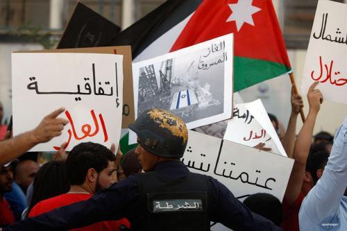 Jordanian protests against Israel in Jordan on 21st October 2016. apaimages