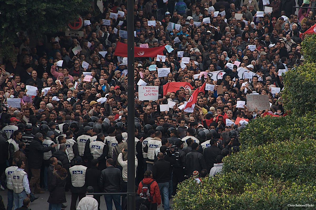 Image of the Tunisian Revolution that took place in January 2011 [Chris Belsten/Flickr]