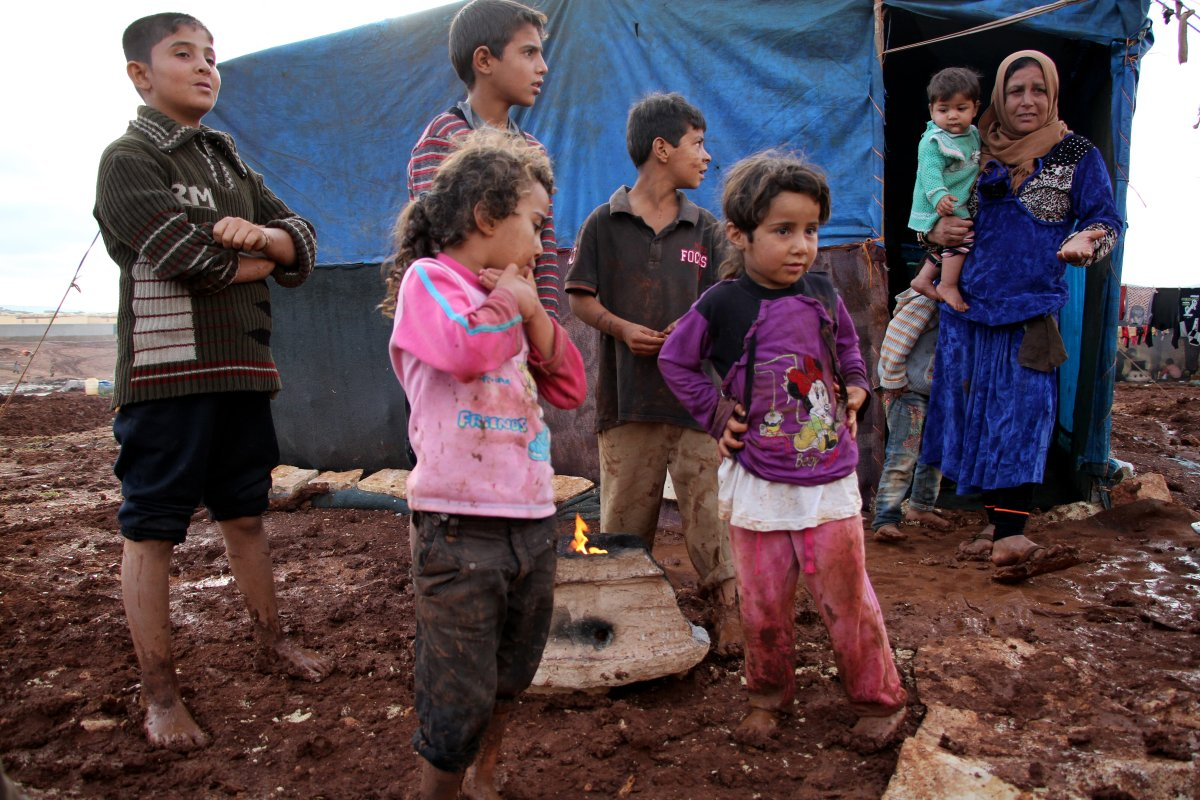 Image of Syrian refugees at a refugee camp in Turkey [Abdulghani Arian/Anadolu Agency]