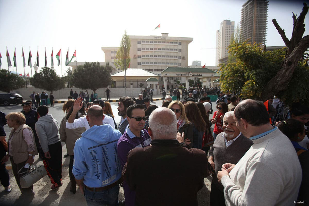 Jordanian people stage a protest in front of Statehouse in Amman, Jordan [Anadolu]