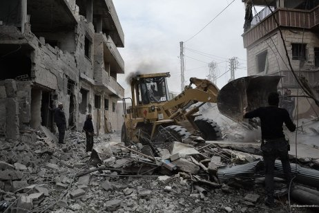 Russian and Syrian regime missiles destroy streets of Duma, Damascus Syria on 10 November 2016. Images from photographer on the ground, Firas Abdullah.