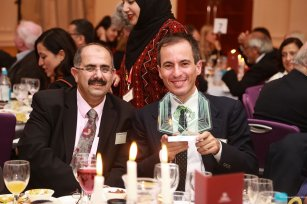 Author of 'Imperial Perceptions of Palestine', Lorenzo Kamel [right], seen at the Palestine Book Awards 2016 [Middle East Monitor]