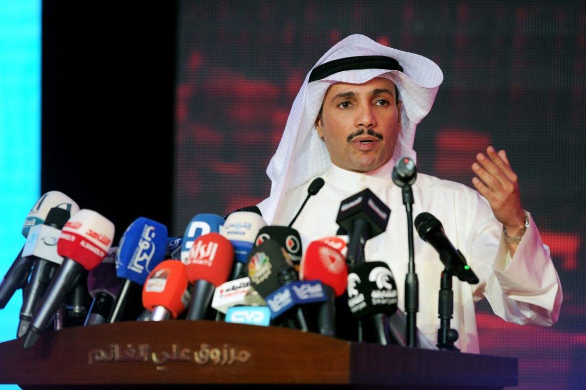 Former Kuwaiti parliamentary speaker Merzuk Ali Alghanim on 22 November, 2016 [Jaber Abdulkhaleg/Anadolu]
