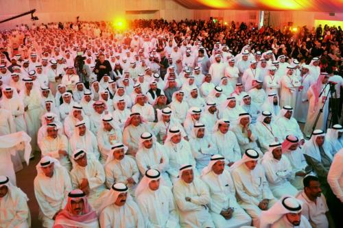 Kuwaiti's attend former parliamentary speaker Merzuk Ali Alghanim election rally in the Abdullah al-Salem region ahead of the upcoming parliamentary elections in Kuwait on 22 November 2016 [Jaber Abdulkhaleg/Anadolu]