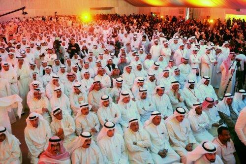 Kuwaiti's attend former parliamentary speaker Merzuk Ali Alghanim election rally in the Abdullah al-Salem region ahead of the upcoming parliamentary elections in Kuwait on 22 November 2016 [Jaber Abdulkhaleg/Anadolu]